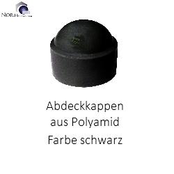 Schrauben  Kappen  Muttern 25 Sechskant Schutzkappen schwarz Schlüsselweite 24