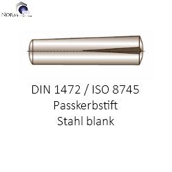 Passkerbstifte DIN 1472 Stahl blank