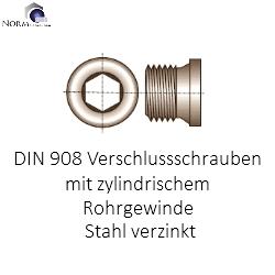1 St/ück Verschlu/ßschraube DIN 908 Edelstahl A4 zylindrischem Rohrgewinde G 1//2 A