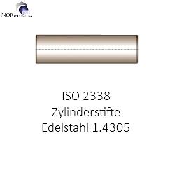 ISO 2338 M6 Zylinderstifte 4x16 DIN 7 Edelstahl rostfrei A2