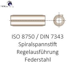 DIN 7343 Spiral-Spannstift 6x35 Federstahl blank Regelausführung